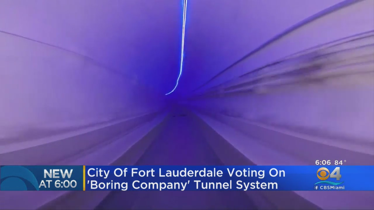City Of Fort Lauderdale Voting On 'Boring Company' Tunnel System